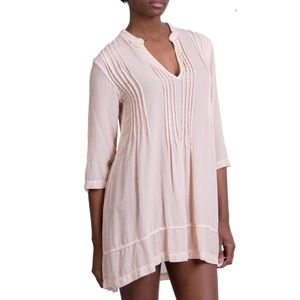CP Shades Regina Velvet Tunic Dress, Blush small